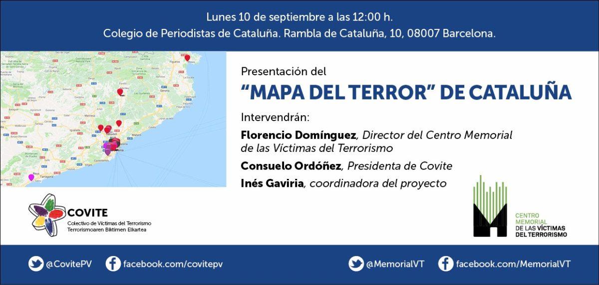 """Presentación del """"Mapa del terror"""" de Cataluña"""