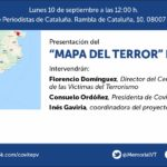 """Presentació del """"Mapa del terror"""" de Catalunya"""