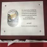 """Agradecimiento de ACVOT a la asociación """"COP'S CAVE"""""""