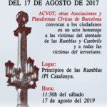 Homenaje a las víctimas del terrorismo del 17 de Agosto de 2017